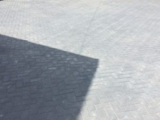 New driveway in Macclesfield using Bradstone block paving in charcoal