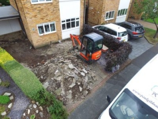 New Driveway being installed by Paul Gibbons Landscapes Ltd