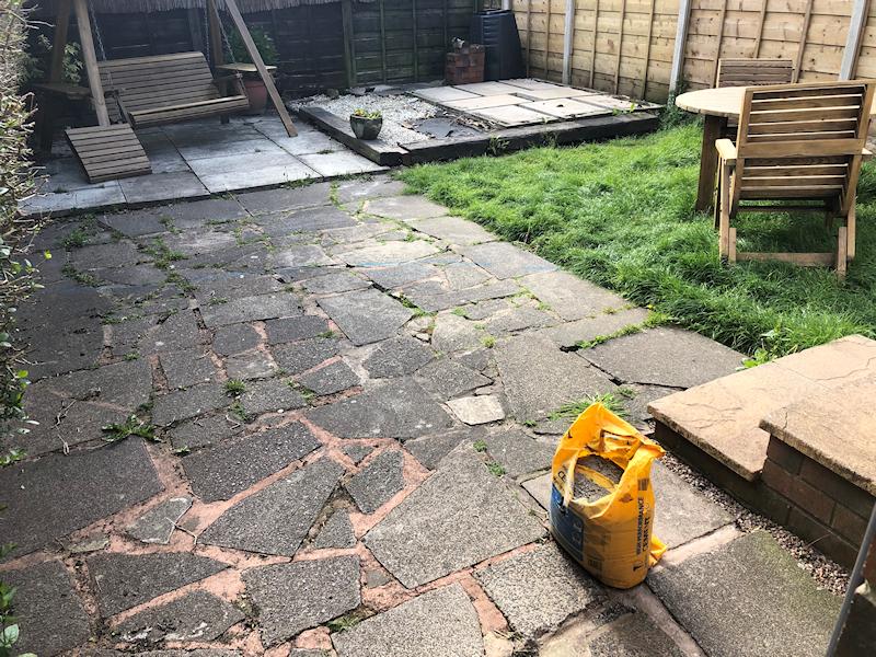 Before garden makeover