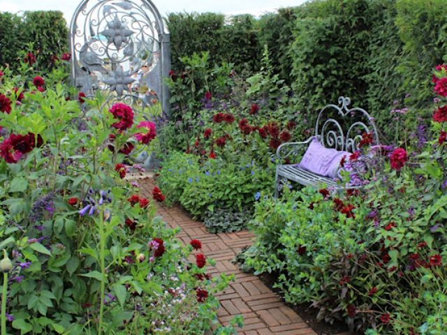 'The flowers of Arley' garden by Arley Hall gardens and Paul Gibbons Landscapes